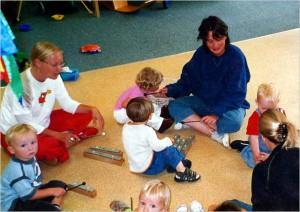 Muziekles op kinderdagverblijf